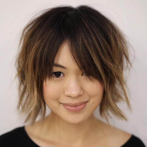 Short Choppy Haircut With Bangs