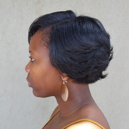 formal short hairstyle for black women