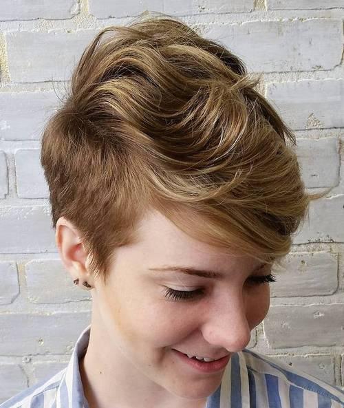 women's long top short sides women's haircut