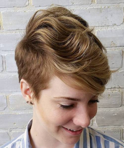 women's long top short sides women's haircut