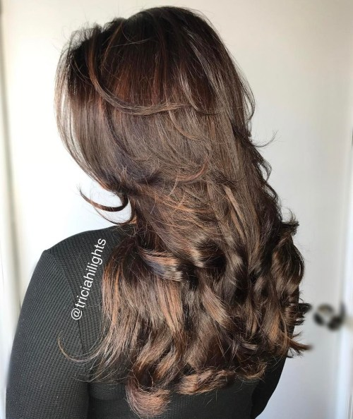Brunette Hairstyle With Layers For Long Hair