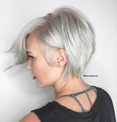 100 mind blowing short hairstyles for fine hair short silver bob for fine hair solutioingenieria Images