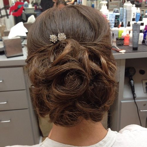 chic prom updo for long hair