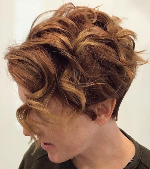 Curly Undercut Pixie