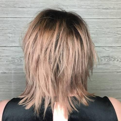 Mid-Length Shag For Straight Fine Hair