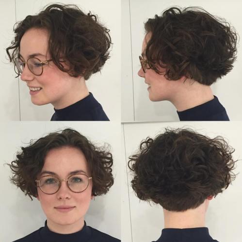 Short Curly Brown Bob