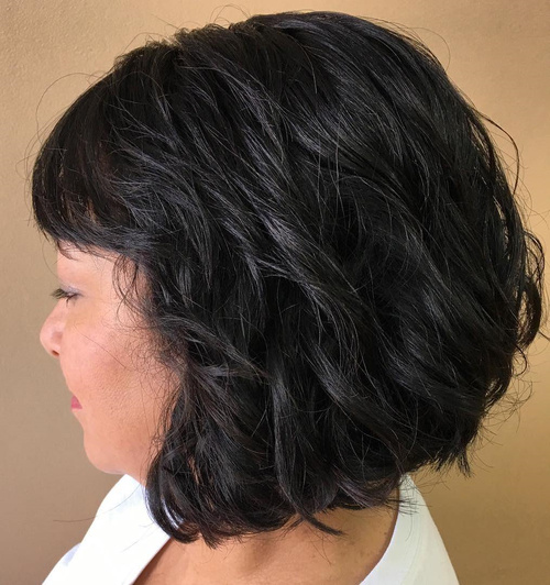 Wavy Bob With Short Bangs