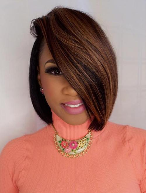 african american bob hair styles 60 showiest bob haircuts for black 2152 | 19 africanamerican sideparted bob