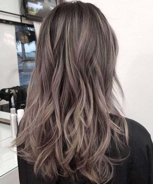 Long Layered Ash Brown Hair