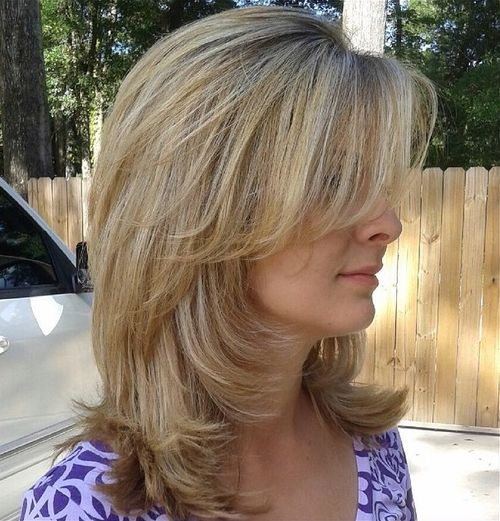 layered haircuts medium hair 70 brightest medium length layered haircuts and hairstyles 2326 | 19 medium layered haircut with side bangs