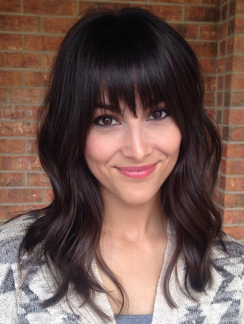 cute medium layered haircuts with bangs 80 layered hairstyles and cuts for hair in 2016 4290 | 19 medium layered haircut with straight bangs