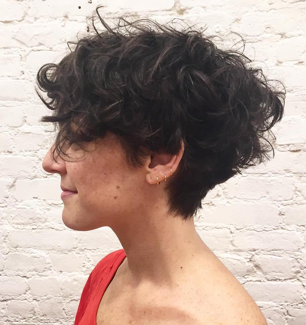 Short Tapered Haircut For Curly Hair 50