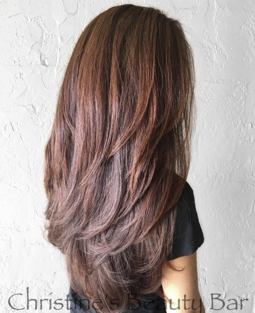 haircuts for long thick hair with layers and side bangs 80 layered hairstyles and cuts for hair in 2019 4569 | 2 layered haircut for long thick hair