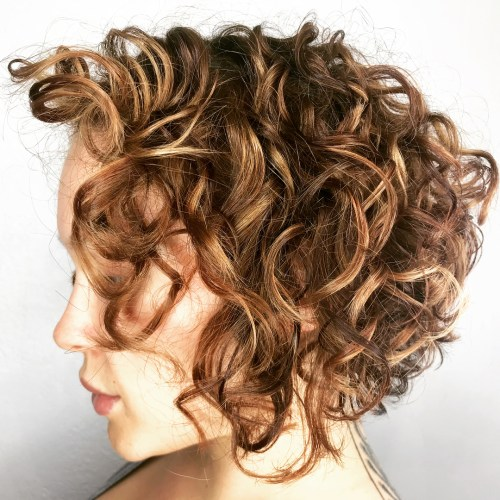 Inverted Curled Bob Hairstyle