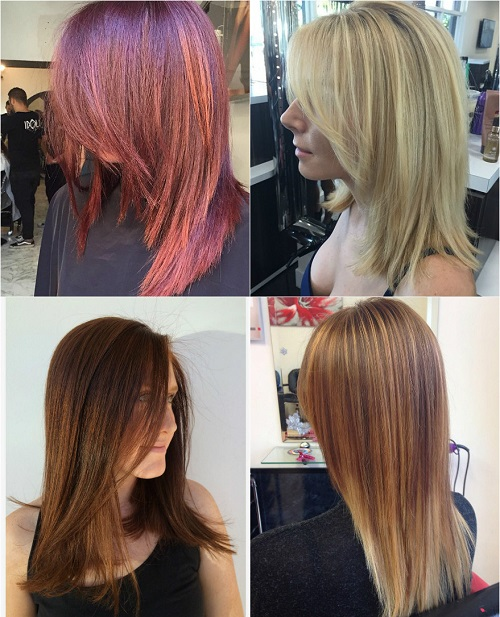 mid-length haircuts for thick straight hair