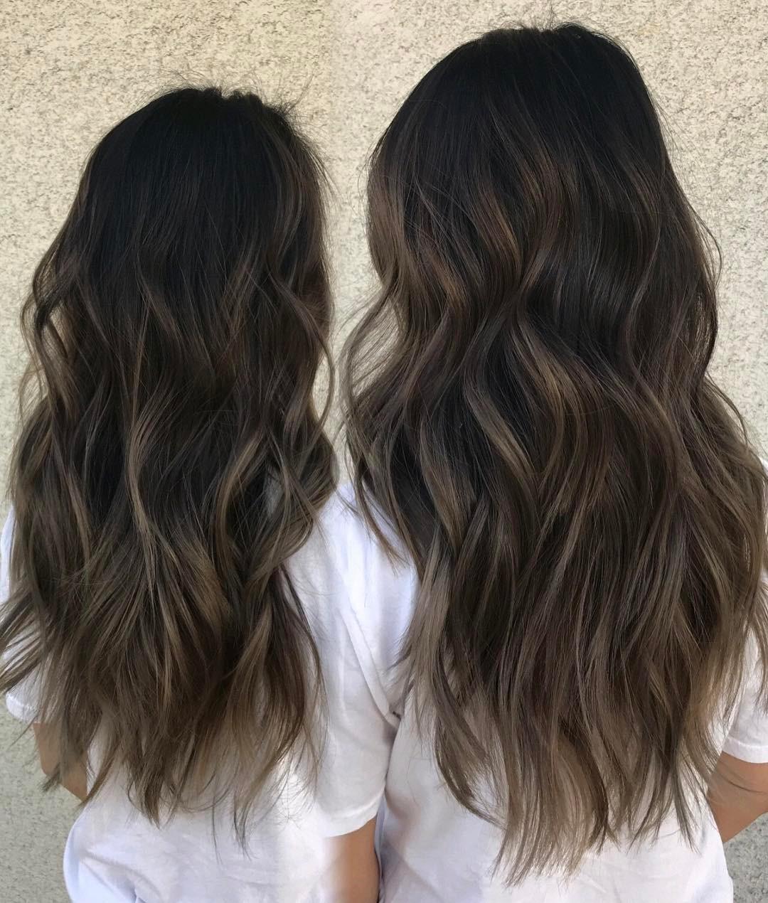 brown highlights with Dark hair