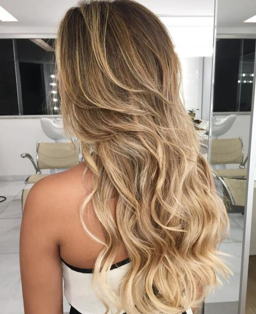 Long Wavy Hairstyle With Medium Layers