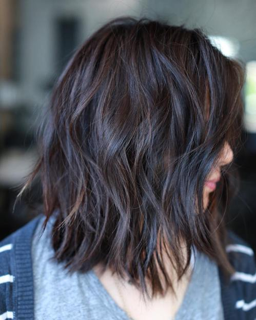 Medium Length Layered Cut With Choppy Layers