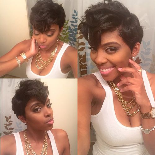 messy pixie hairstyle for black women