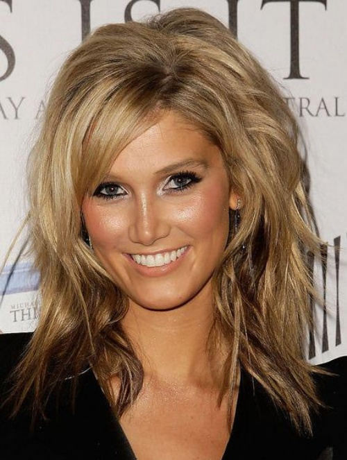 70 brightest medium length layered haircuts and hairstyles mid length layered haircut with side bangs urmus Choice Image