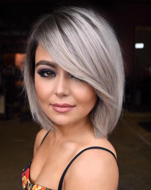 Textured Slimming Bob Haircut