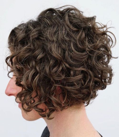 Jaw-Length Bob For Wavy Curly Hair