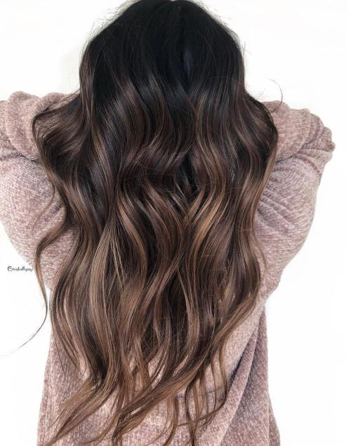 Brunette Hair With Bronde Balayage