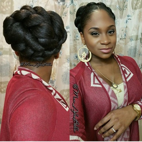 chunky twists updo for natural hair