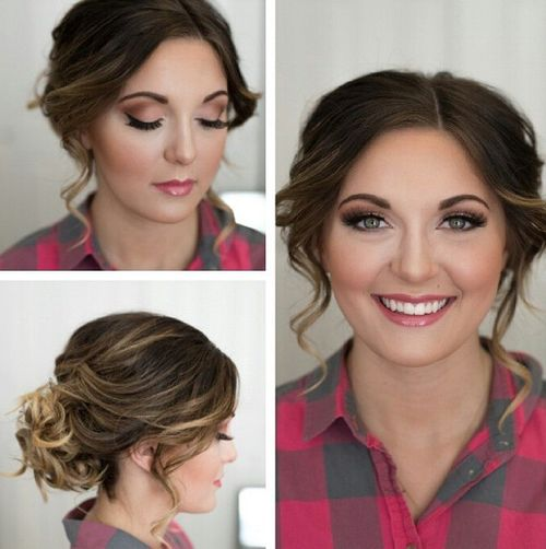 curly updo for fat round faces