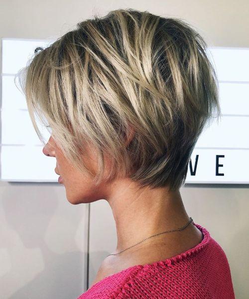 Fine Hair Short Shaggy Haircut