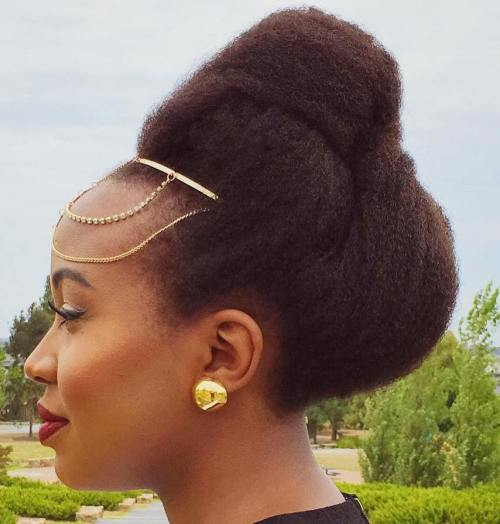 Simple Updo For Natural Hair