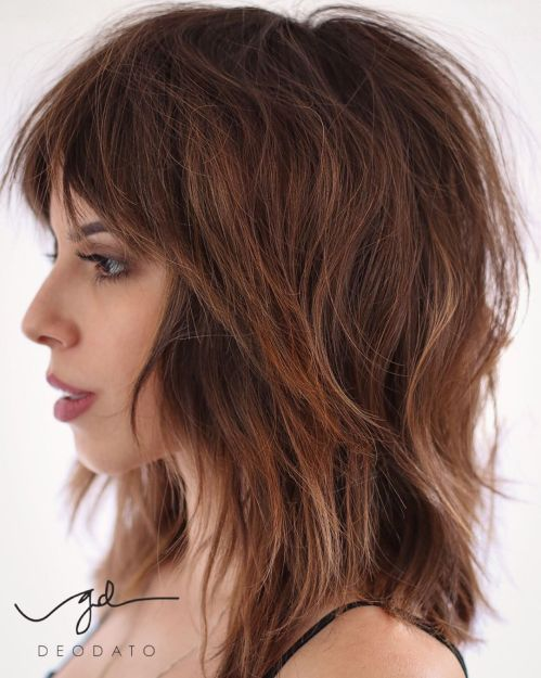 Trendy Medium Shag Hairstyle