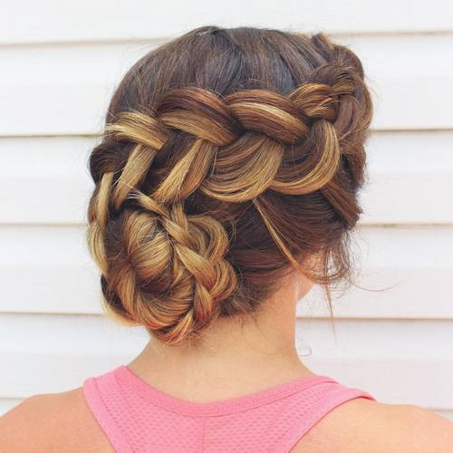 40 most delightful prom updos for long hair in 2017 braided updo for prom pmusecretfo Choice Image
