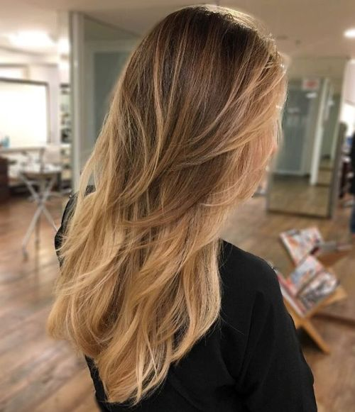 how to cut long layers in long hair