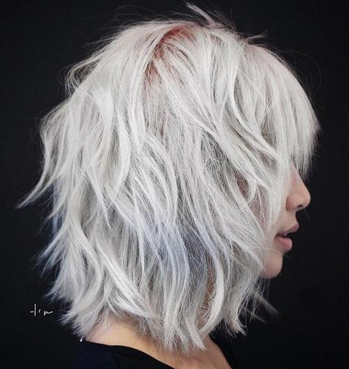 Medium Razor-Layered Gray Bob