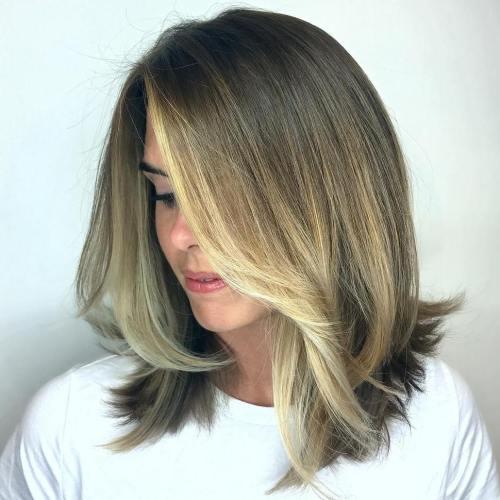 Partial Blonde Balayage For Medium Hair