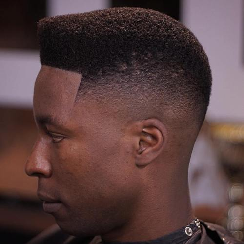 High Top Fade With Line Up