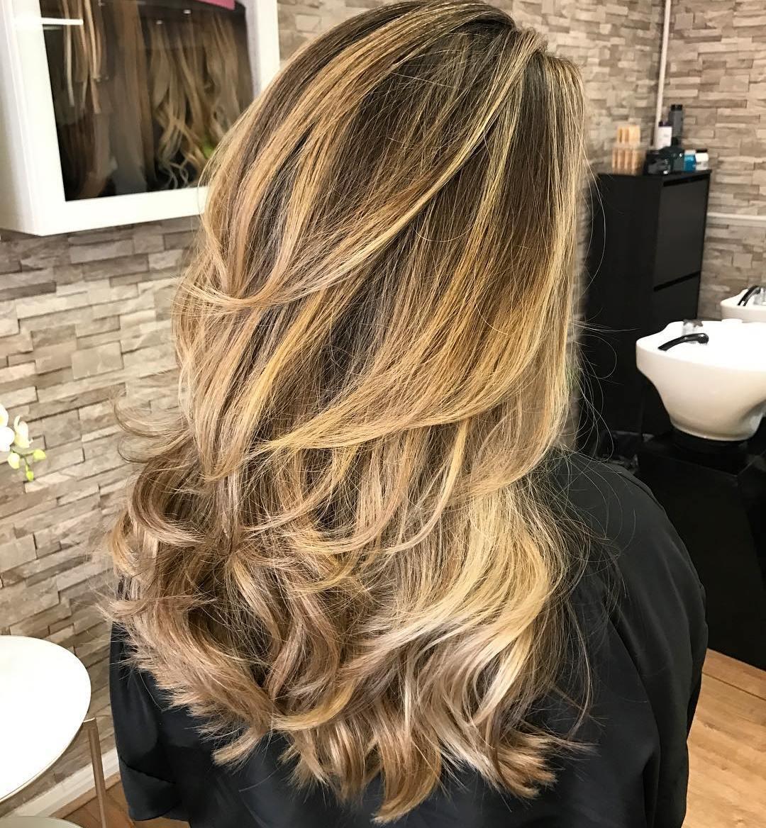 Wonderful Long Golden Blonde Balayage Hair