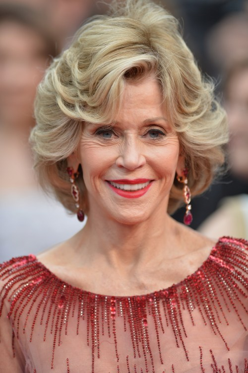 Jane Fonda Cannes hairstyle