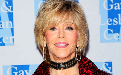 Jane Fonda graded hairstyle