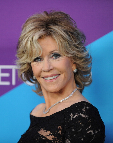 Jane Fonda shaggy hairstyle