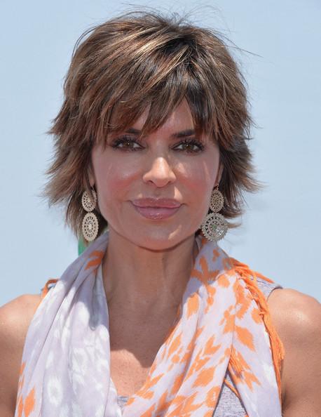 Lisa Rinna short edgy hairstyle