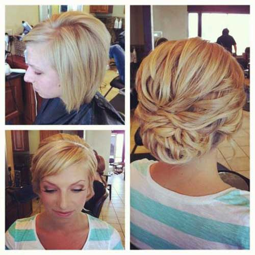 "35 Romantic Wedding Updos For Medium Hair: 40 Best Short Wedding Hairstyles That Make You Say ""Wow!"""