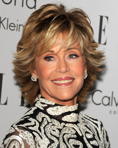 Jane Fonda shag hairstyle