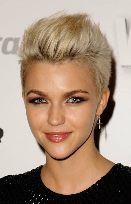 short blond sassy haircut