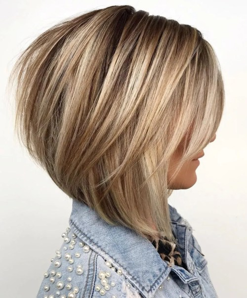 Medium Layered Bronde Bob