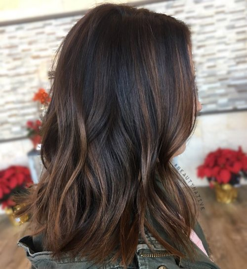 Chocolate Brown Hair With Bronze Highlights