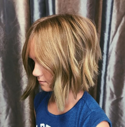Girls' Inverted Choppy Bob