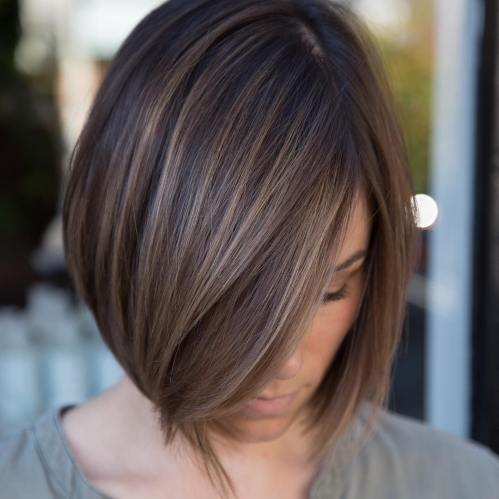 Light Brown Balayage Bob