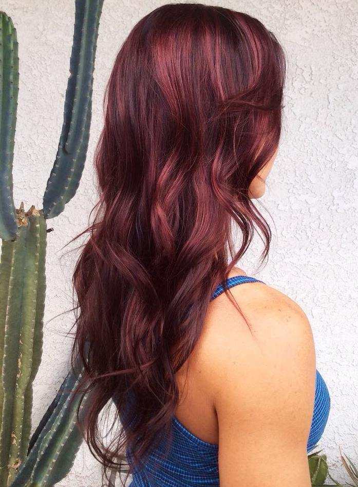 50 Shades Of Burgundy Hair Dark Red Maroon Red Wine Hair Color